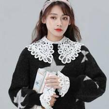 Women Lace Shirt Fake Collar Detachable Collar  Lapel Blouse Top False Collar LD