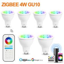 ZIGBEE GU10 RGB+CCT LED Bulbs 4W Spotlight Lamp+6-zone RF Remote fr Alexa Google