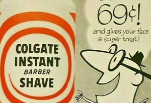 Vintage Print Ad Colgate $.69 Instant Barber Shave Life Magazine Ad 1956