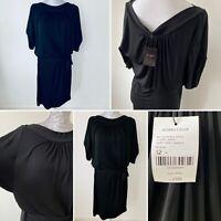 BNWT Hobbs Black Belted Pasha Midi Luxury Jersey Shift Dress UK Size 12 RRP £129
