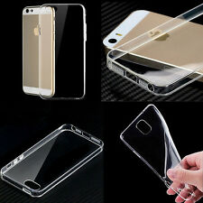 Ultra Thin Crystal Clear Soft Rubber TPU Skin Case Cover For iPhone Samsung Sony