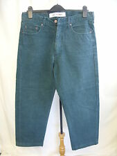 "Mens Jeans Lee Cooper green, waist 34"" inside leg 32"", five pockets 1212"