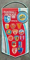 Orig. Wimpel DDR Oberliga 1974/75 Fussball Jahreswimpel BFC Dynamo FCM Hansa HFC