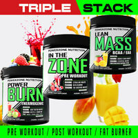 Muscle Building / Fat Burning TRIPLE STACK - 3 Product Supplement Deal - Save