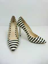 High (3 in. and Up) Leather Striped Heels for Women