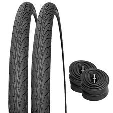 2 x New 700 x 38c Hybrid Bicycle/Cycle Tyres and 2 x Inner Tubes Presta Valves