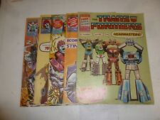 The TRANSFORMERS Comic JOB LOT - No 130 - 134  Date 1987 - UK Marvel Paper Comic