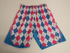 Youth XX Small Argyle Performance  Athletic Shorts Blue  Flow Society