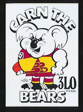 1990 3LO WEG Sticker Carn The Bears Brisbane Lions