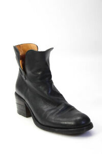 FIORENTINI + BAKER Womens Leather Cut Out Zip-up Ankle Boots Black Size 38