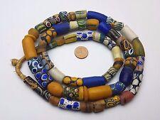 Strang Krobo Trade Beads aus Ghana, Afrika Halskette Pulver Glasperlen