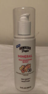 New Hawaiian Tropic Mineral Skin Nourishing Milk Sunscreen SPF 30 3.4 Oz