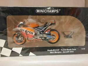 Minichamps Honda RC213V Marc Marquez MotoGP 2016 World Champion 1/12 122161193