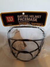 NEW WILSON BATTING HELMET FACE MASK BASEBALL SOFTBALL WITH HARDWARE.
