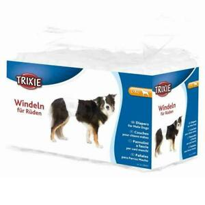 12 x Trixie Male Dogs Diapers, Disposable Nappies, Large to XL for 60-80cm Waist