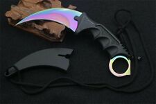 TACTICAL COMBAT KARAMBIT KNIFE Survival And Hunting Fixed Blade Knife
