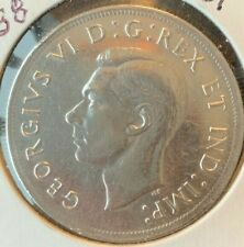 1938 CANADA SILVER DOLLAR**RARE YEAR**(cleaned)