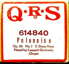 QRS Instrumental Chopin POLONAISE Op 26 No 1 C shp. Mn. 614840 Player Piano Roll