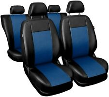 Auto Sitzbezüge Sitzbezug Schonbezüge Comfort Blau Komplettset Kunstleder TOP