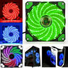 15 LED 120mm 12V 2Pin PC Computer Case CPU Heatsink Cooler Cooling Fan New