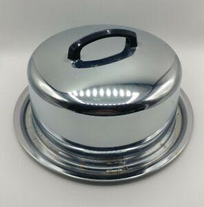 Vth MCM Everedy Frederick MD Locking Cake Pan Carrier Stainless Sliding Lid USA