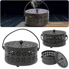 Metal Mosquito Mozzie Coil Holder Burner Repellant Home Garden Art Decor  EL