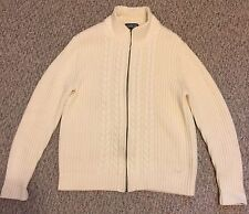 LAND'S END Womens Sweater Japan 100% Baumwolle Cotton Cream Lt Yellow Sz 6-8