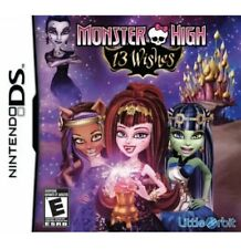 Monster High: 13 Wishes DS/3ds Kids Game For Girls/Halloween