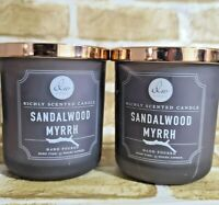 2 DW Home Richly Scented Hand Poured Candle 9.2oz 33 Hours - Sandalwood Myrrh