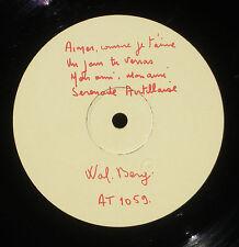 Test press Wal-Berg Pathé AT 1059 étiquette Pathé datée du 1/7/55 LP & CV VG