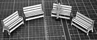 1:32 Scale Benches x 4 - for Scalextric/Other Static Layouts
