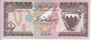 Bahrain 1/2 Dinar Checkout Fresh
