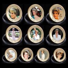 Набор 10 золотая монета Принцесса,  Диана Леди Ди Diana юбилейные коллекционные