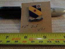 52nd Infantry V21 Unit Crest, Di, Dui (Draw#J5)