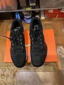 nike air zoom vapor x Federer tennis shoes - size 12 black/white/yellow US Open