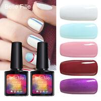 BELLE FILLE Soak Off Glitters Color UV Gel Polish UV LED Lamp Top Base Top 10ml