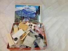 Vintage Buttons Sears Roebuck Plastic Colorful LOT in Banff Alberta Tin NOS