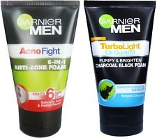 2x ANTI ACNE TREATMENT! Garnier for Men ACNO FIGHT Charcoal Black Foam Face Wash