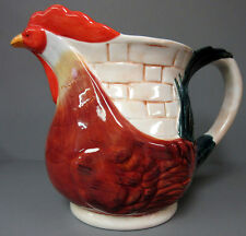 New Ceramic Collectible 3D Rooster Pitcher Roosters Water Jug