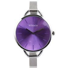 Luxury Fashion Lady Women Bracelet Watch Vintage Quartz Wristwatch Slim Mesh Uhr