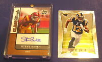 2007 TOPPS DPP FOOTBALL STEVE SMITH AUTO ROOKIE CARD GIANTS USC AUTOGRAPH +BONUS