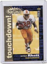 "1995 UDCC ERRICT RHETT CRASH THE GAME GOLD TD ""TOUCHDOWN""  CARD #20"