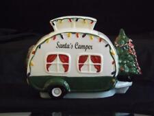 Nwt Blue Sky Clayworks Santa's Camper Rv Cookie Jar Heather Goldminc