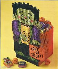 *Monster Treat Box To Stitch - Pattern Only*Plastic Canvas Pattern*