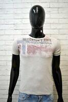 NAPAPIJRI Maglia Uomo Size XS Maglietta Shirt T-Shirt Polo Cotone Grigia Jersey