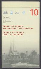 CANADA BOOKLET BK208a 10 x 45c CANALS OF CANADA, GLUED FLAP NO TI