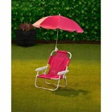 Kids Children's Garden Chair and Parasol Foldable- Pink, Best Gift
