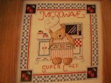 Microwave Super Chef Teddy Magazine Cross Stitch Pattern (A)