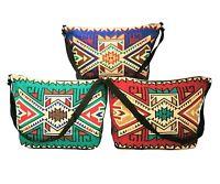 Southwest Style Handbag Stenciled 100% Cotton Purse Canvas Shoulder Tote Bag