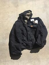 Carhartt Sandstone Sierra Jacket Black Hooded Sherpa lined 2XL style J141